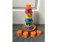 2-in-1 Stacking Cups & Shape Sorter
