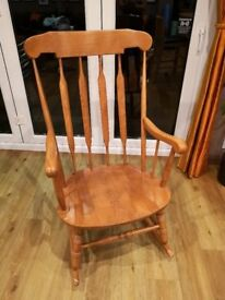 Pine rocking chair