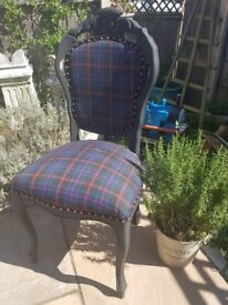 Tartan calver chair