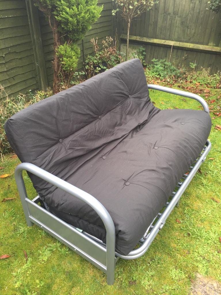 HOME Mexico 2 seater futon sofa bed - black