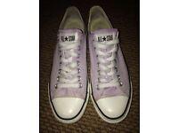 Unisex converse uk size 9 Pale pink