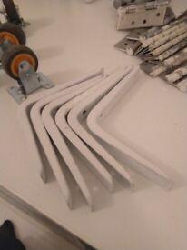 Six 6 inch shelving brackets white central London bargain