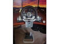 XBOX 360 Wireless Steering wheel and wireless receiver for PC