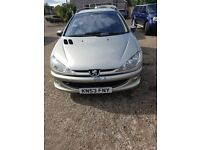 Peugeot 206 D Turbo HDi SW - 53 plate / 2004 - Estate Silver