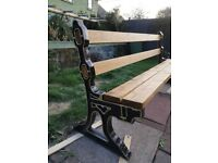Cast iron garden bench xxl, garden furniture