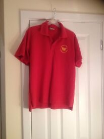 WAINGELS COLLEGE GIRLS POLO PE SHIRT size 32-33inches