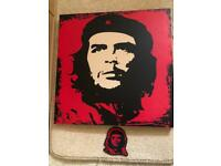 Che Guevara printed canvas and patch