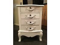 Large White Bedside Table - French Bedside Table - Bedside Cabinet - Chest Of Draws