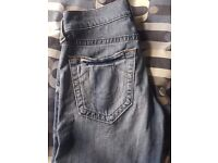 REAL TRUE RELIGION SLIM FIT JEANS WITH RECEIPT! - VERY SUTTLE