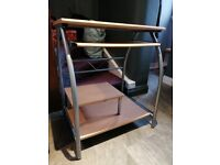 Compact Computer / Study Desk with Sliding WorkspaceApproximately 65cmx40cmx75cm ww2