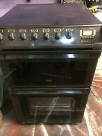 Brown Creda 55cm ceramic hub electric cooker grill & double ovens good condition with