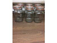 6 x Kilner glass jars