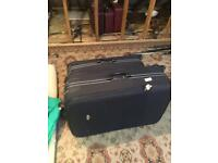 Pierre Cardin Black Suitcases X3
