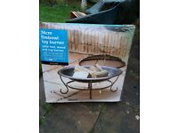 Firebowl log burner 74cm for use in the garden or out camping
