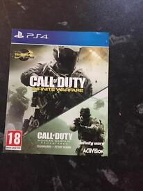 Ps4 call of duty infinite warfare and cod remastered