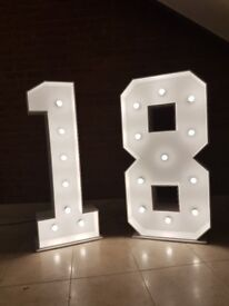 4ft light up numbers 18