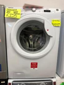 HOOVER 8KG DIGITAL SCREEN WASHING MACHINE IN WHIRE