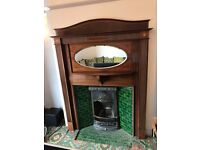 Decorative Mahogany Fire surround and Cast Iron Fireplace