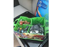 Sky landers plus carry case and base