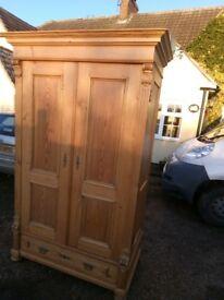 antique french pine wardrobe