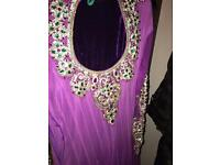 Indian Purple dress with heavy stone work