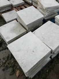 Standard grey 450x450x50mm Riven concrete paving slabs