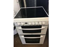 Indesit KD6C35W 60cm Double Electric Cooker in White #3801