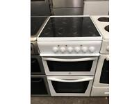 INDESIT free standing electric ceramic cooker 50 cm Width in good condition & perfect working order
