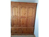 Welsh pine heavy duty triple wardrobe (Delivery)