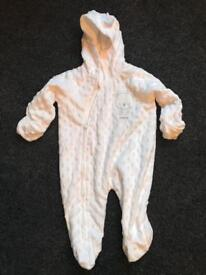 Baby grow thick lined