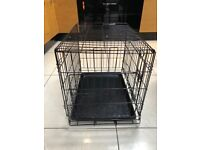 Small dog crate with cover