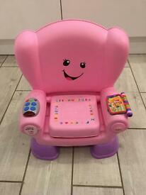 Fisher price pink learning chair