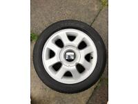 "Full set Alloys 15"" 4x100 to fit Seat. Volkswagen, Vauxhall etc"