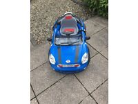 Child's blue battery operated mini
