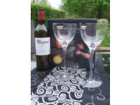 Pair of Chic, Crystal, Wine Glasses by Dartington