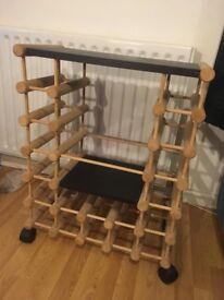 Wine Rack (with wheels!)