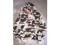 NEW- Supreme Hoodie Brown Camo