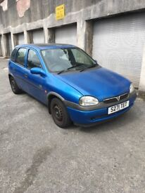 1999 Vauxhall Corsa 1.4 breeze, 4 months mot, 60k with history