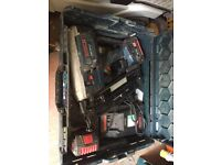 Bosch second fix nailgun 18v with 2 batteries charger and case