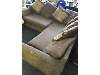 Brown corner sofa can deliver