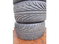 Tyres x 2 - 285/30 Z R19 94Y nearly brand new - only done @ 30 miles