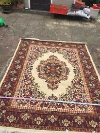Pattern rug- 220cm height x 170cm width 100% worsten pile