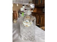 Beautiful crystal decanter
