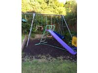 TP 3 piece swing set with added pole for baby swing( not the slide)
