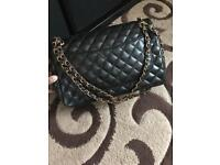 Handbag Black leather quilted bag