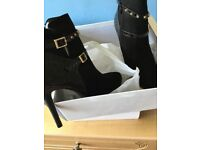 Black ankle boots unworn
