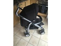 Silver cross 3D pram with isofix base