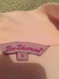 Pink Ben Sherman zip up top size small