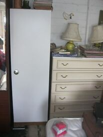 MODERN WHITE WARDROBE.. NOT TOO TALL. HANGING RAIL. VIEWING/DELIVERY AVAILABLE