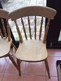 x4 solid oak chairs (pine farm house)